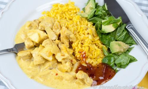 Enkel currygryta med kycklingfile