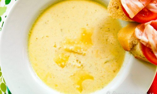 Fänkålssoppa med kålrabbi och potatis