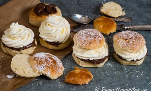 Nutellasemlor är fastlagsbullar fyllda med nötcrèmen Nutella istället för mandelmassa