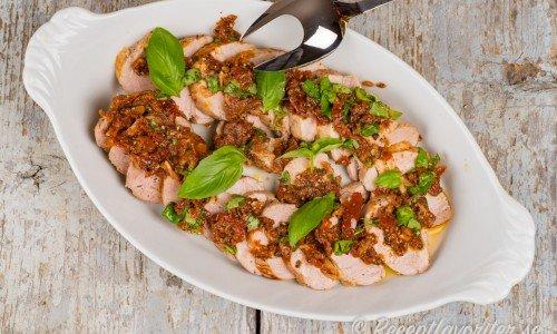 Fläskfilé med Italiensk marinad på fat