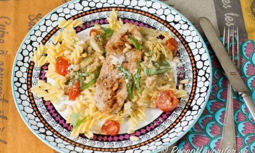 Fläskschnitzel med Italiensk pasta
