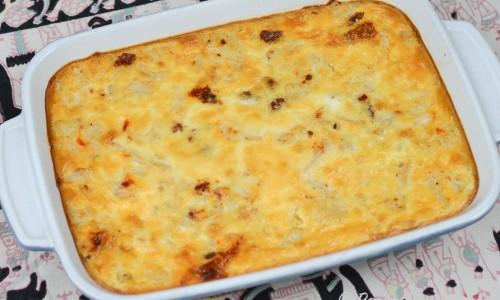 Frittatan är en stor omelett som bakas i en form. Skärs sedan i rutor när den kallnat.