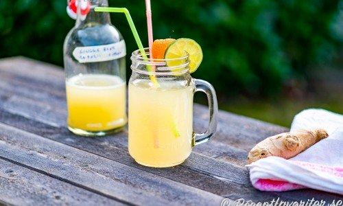Hemgjord gingerbeer, ingefärsläsk eller ingefärsläsk
