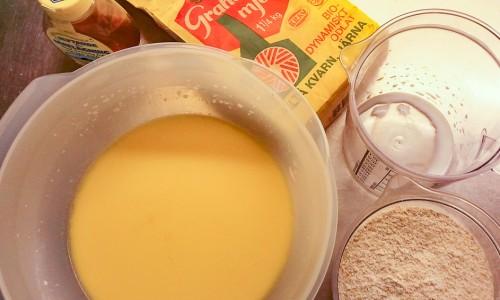 Ingredienser till grahamsbullarna