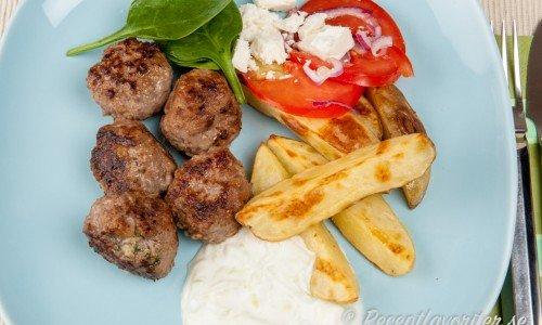 Grekiska köttbullar med fetaost