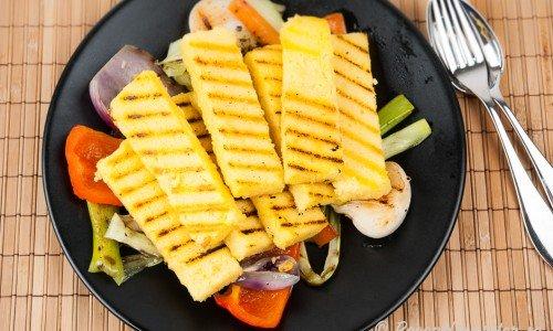 Grillad eller stekt polenta