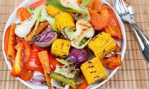 Grillade marinerade grönsaker
