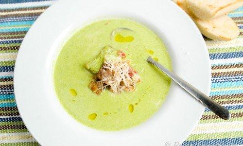Grön ärtsoppa eller Crème Nignon