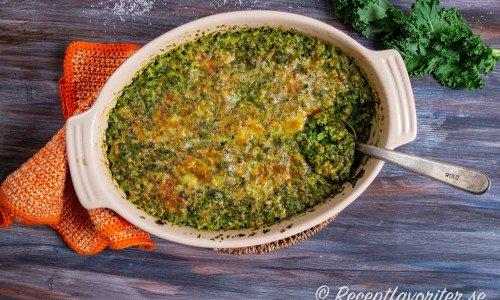 Grönkålsgratäng med matvete i form