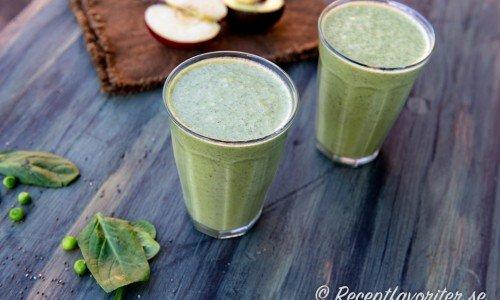 Grönsakssmoothie i glas