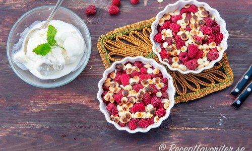 Hallongino - hallon med vit choklad