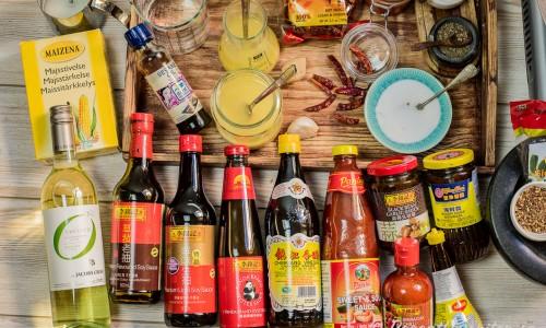 Lite ingredienser som kan användas när man wokar
