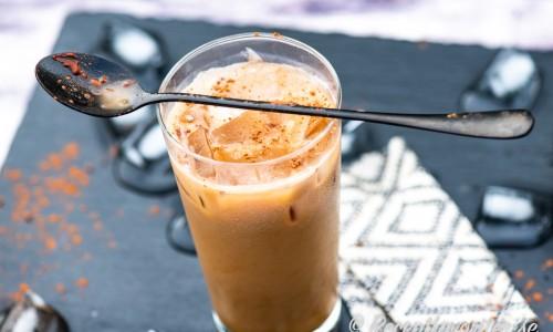 Iskaffe med smak av päron