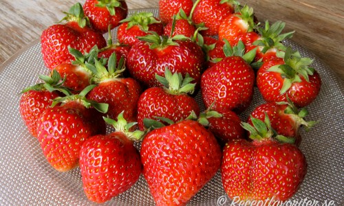 Svenska söta mogna jordgubbar