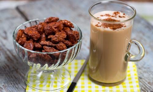 Kaffesmoothie med glass i glas