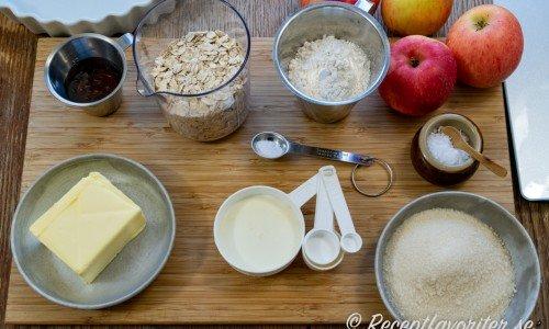 Ingredienser till äppelpajen