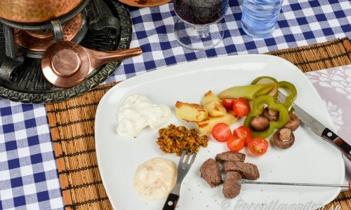 Köttfondue fondue med kött