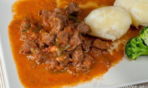 Köttgryta med paprika