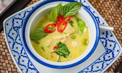 Kyckling med grön curry
