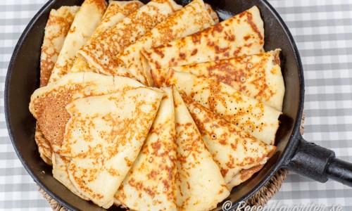 Goda glutenfria pannkakor med mandelmjöl och utan vetemjöl