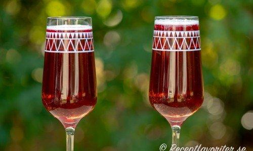 Lingondrink med Prosecco mousserande vin