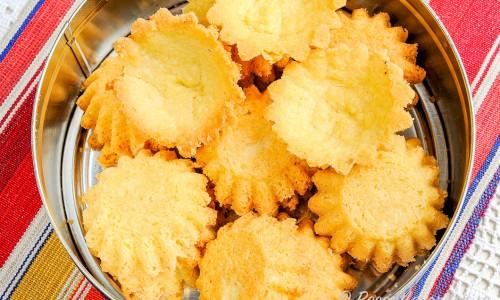 Mandelformar eller mandelmusslor i kakburk
