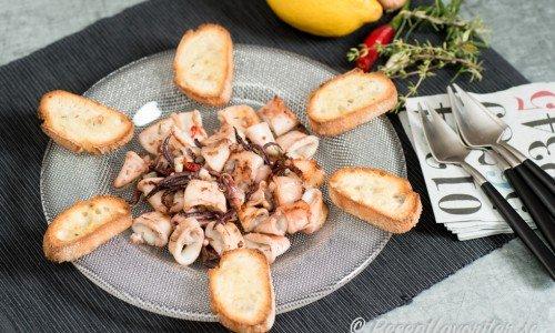Recept på bläckfisk