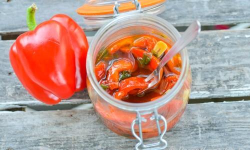 Marinerad grillad paprika