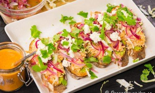 Mexikansk kyckling sandwich