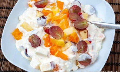 Mimosasallad i skål