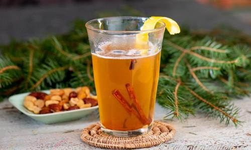 Mulled cider i glas