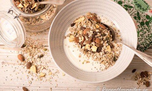 Musli med chiafrön och quinoa