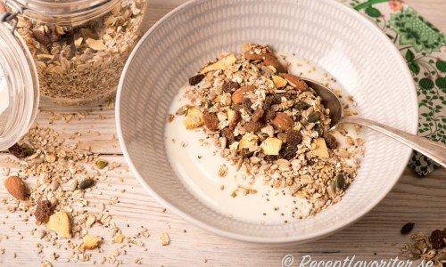 Recept på mat som passart till frukost som musli ovan