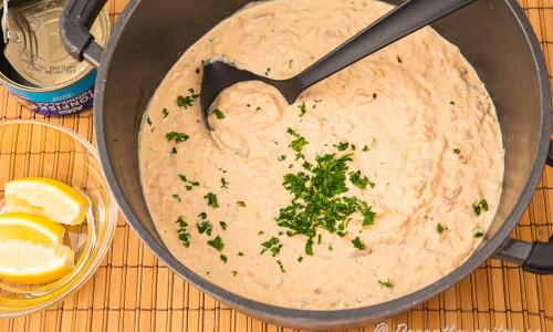 Tonfisksås till pasta i gryta