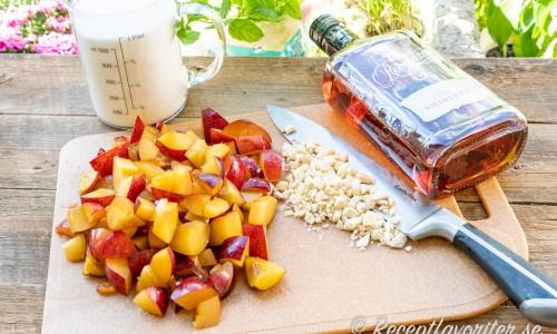 Ingredienser till plommonmarmeladen