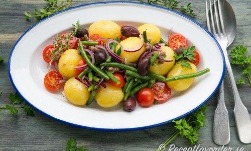 Potatissallad med sardeller