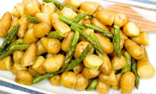 Potatissallad med sparris