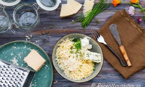 Ingredienser till potkäsen