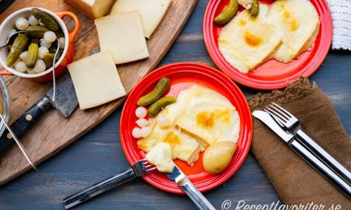 Raclette i ugnen med tillbehör