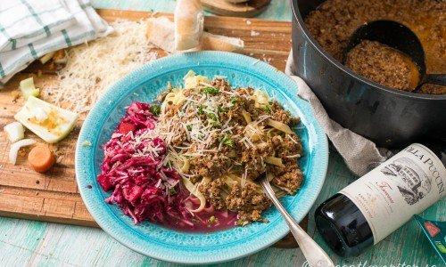 Recept på långkok som ragu alla bolognese ovan