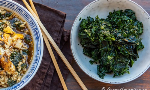 Förvälld grönkål att ha till soppan.