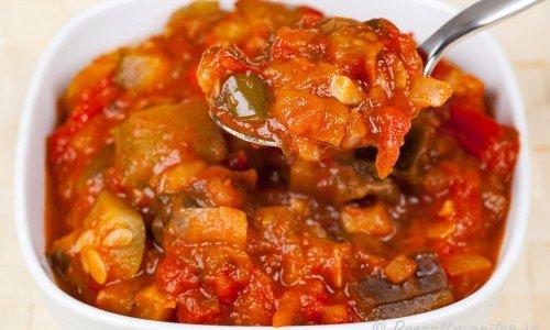 Ratatouille fransk grönsaksröra i skål