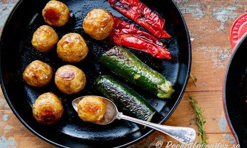 kokar man potatis med lock