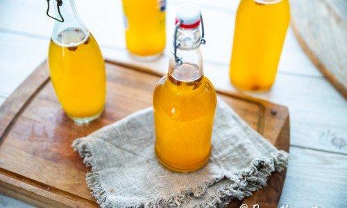 Sima citronläsk i flaskor