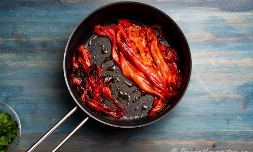 Skalad rostad paprika