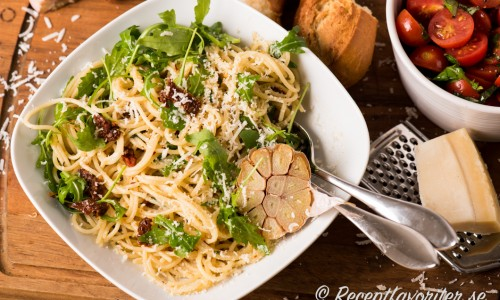 Spagetti med parmesan
