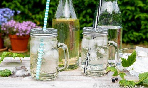 Saft med smak av blad från svarta vinbär samt citron blir gott och billigt om du har en svart vinbärsbladsbuske