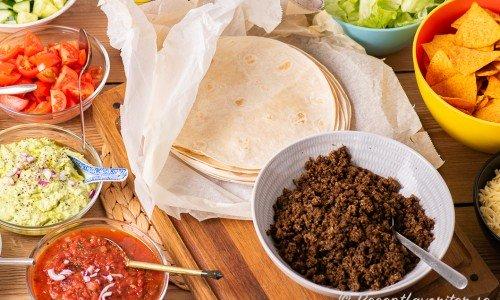 Tacobuffé uppdukad till tacomys