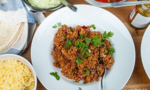 Tacofärs eller tacokryddad köttfärs