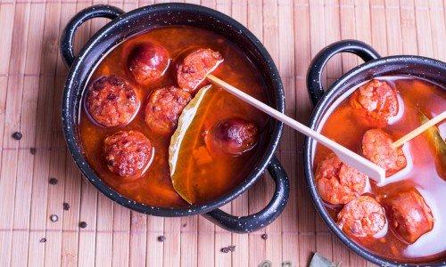 Tapas med Chorizo a la sidra